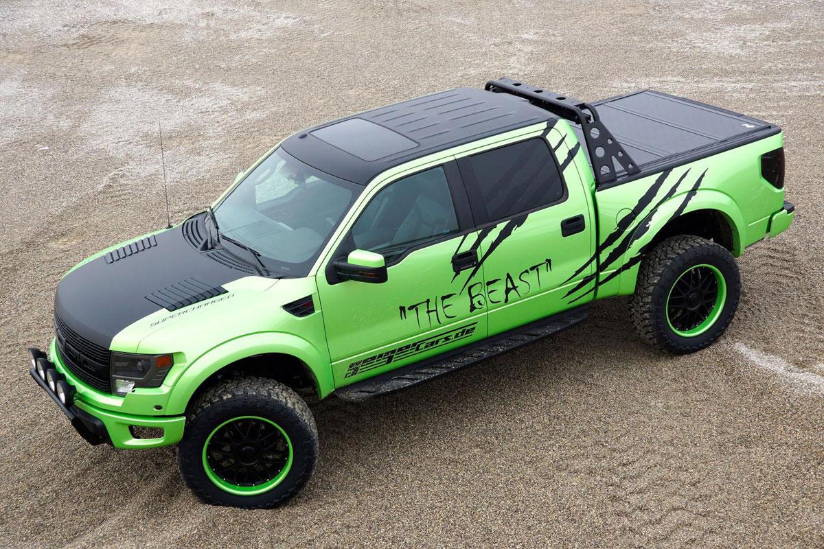 geigercars garish green ford f150 svt raptor beast edition