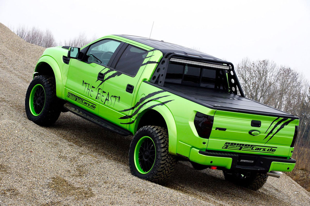 GeigerCars Garish Green Ford F-150 SVT Raptor Beast Edition