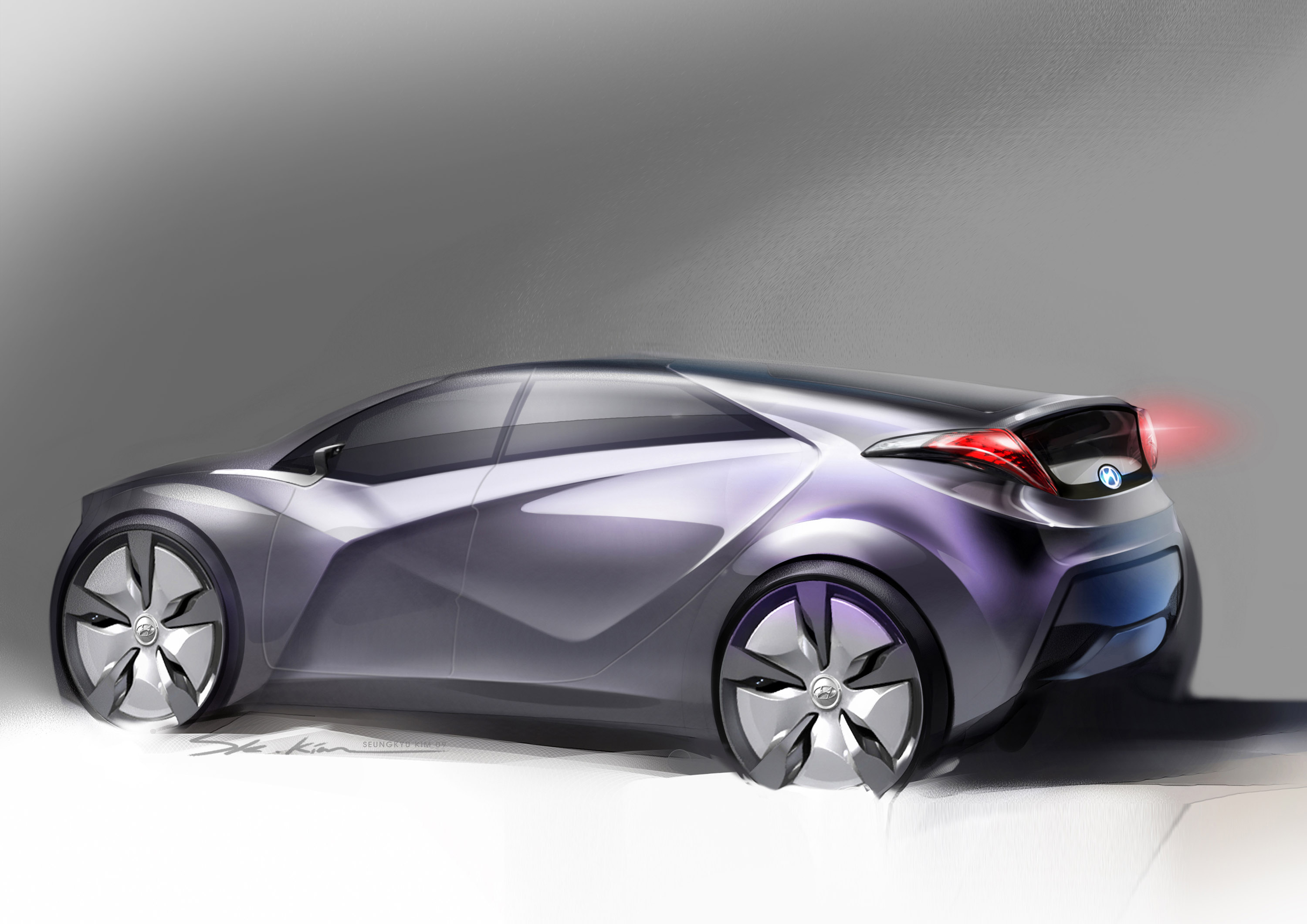 Blue Will Hyundai Charges In With Advanced Hybrid Concept