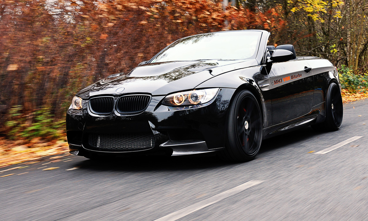 manhart bmw m3 e92 mh3 v8 r biturbo convertible produces 655 horsepower. Black Bedroom Furniture Sets. Home Design Ideas