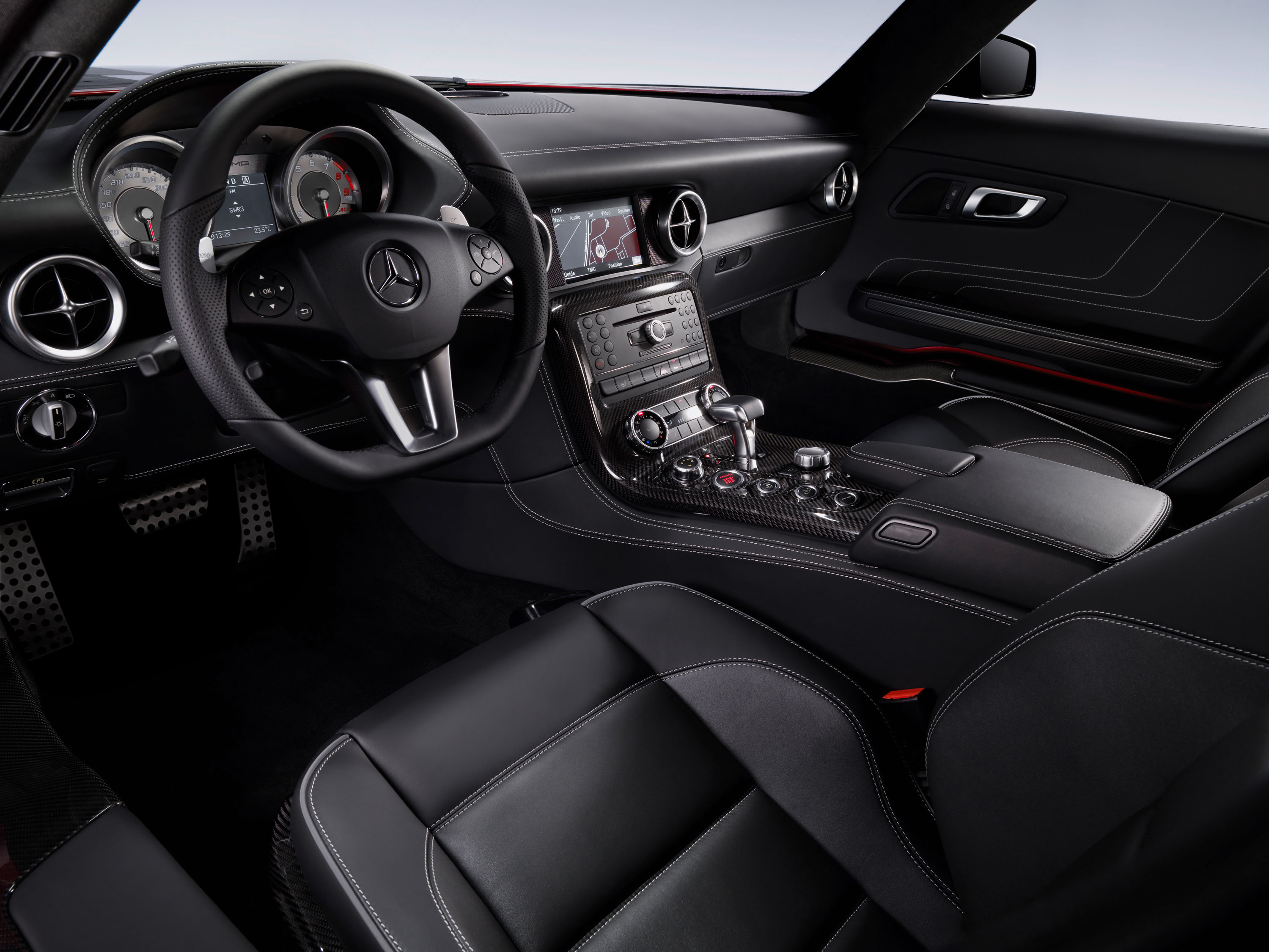 The Interior Of The Mercedes-Benz SLS AMG