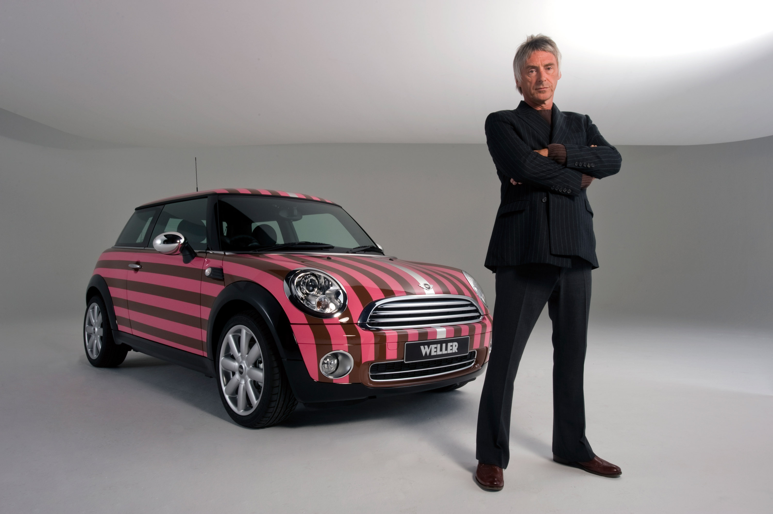 paul weller mini cooper a one off car for charity. Black Bedroom Furniture Sets. Home Design Ideas