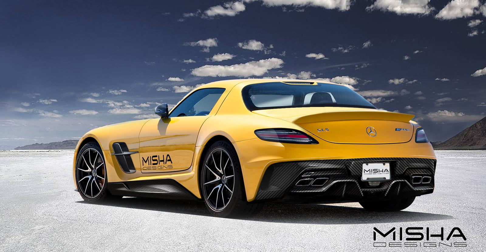Misha designs mercedes benz sls amg preview for Mercedes benz amg kit