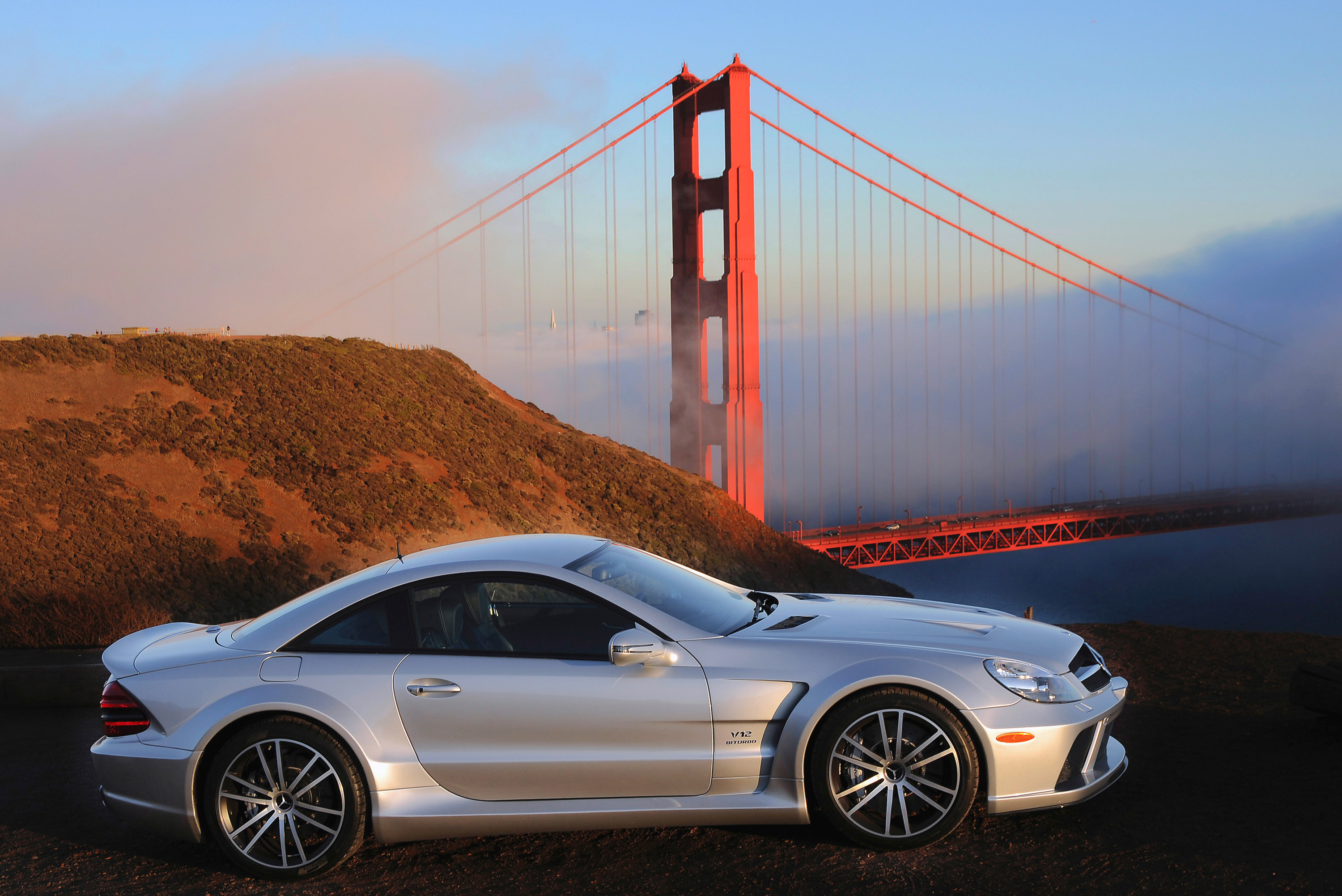 Mercedes sl 65 amg black series vs bmw m6 f12 and porsche for A series mercedes benz