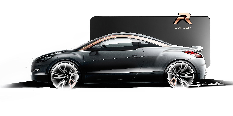Peugeot Rcz R Concept Sketch Picture 86289