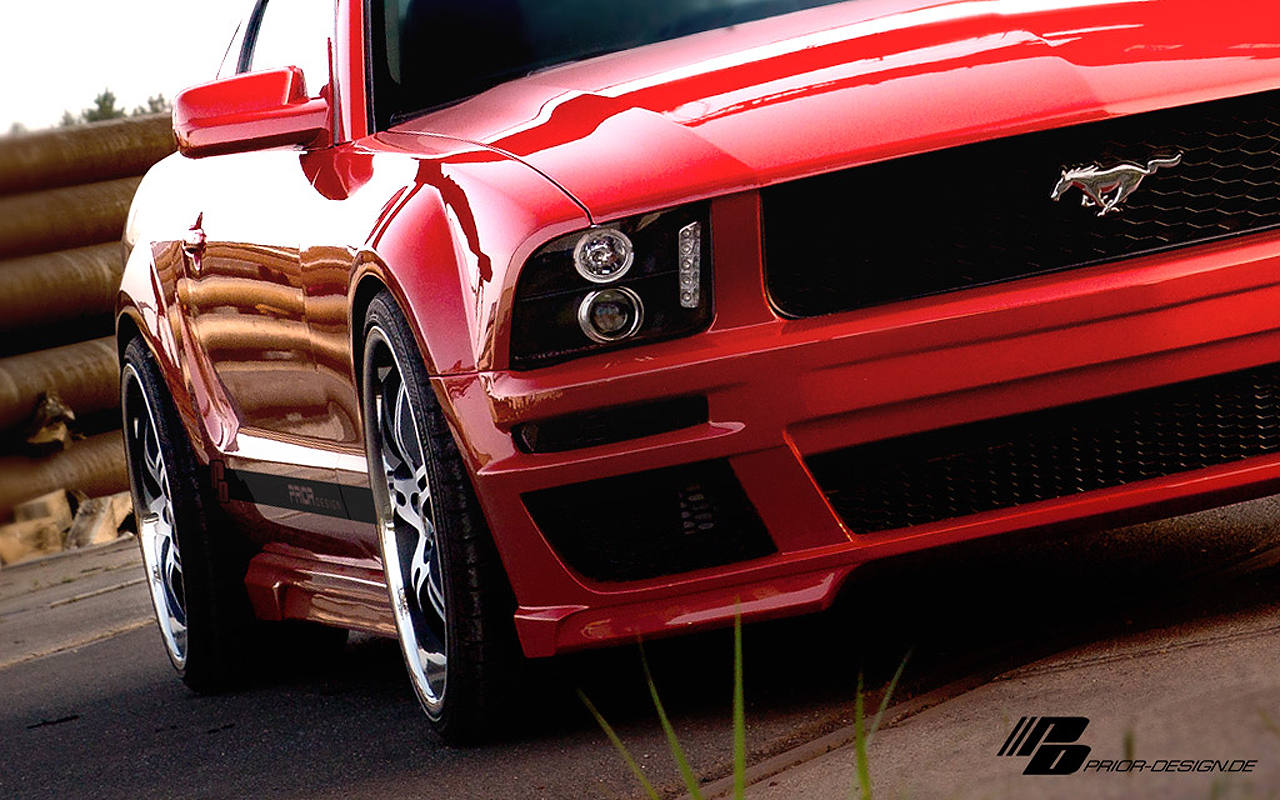 prior design ford mustang red picture