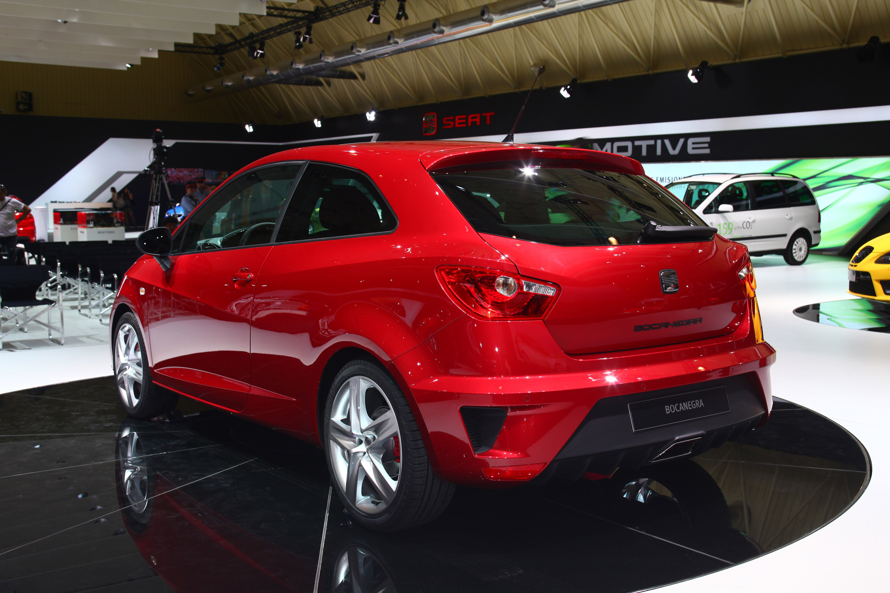 seat ibiza bocanegra at the barcelona motor show picture 20203. Black Bedroom Furniture Sets. Home Design Ideas