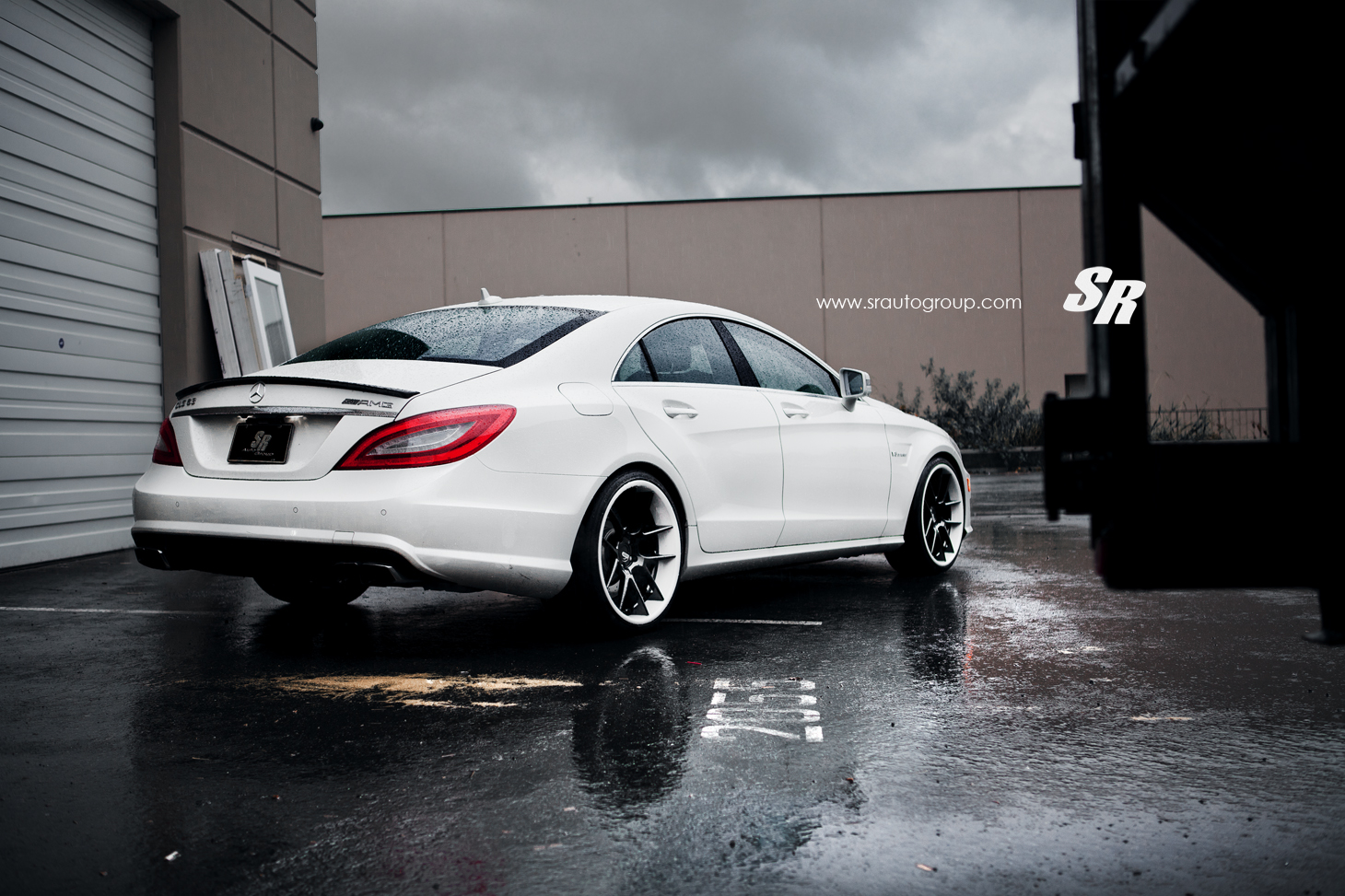 Sr auto mercedes benz cls63 amg equipped with adv 5 0 wheels for Mercedes benz in dallas