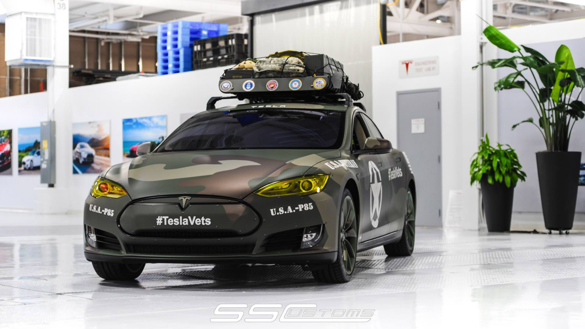 Ss Customs And Tesla Create One Off Teslavets To Celebrate
