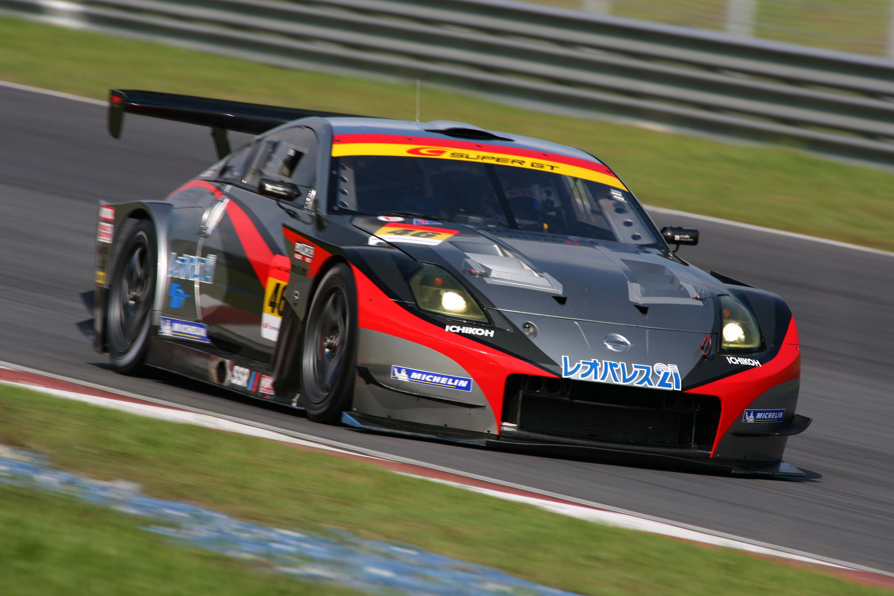 nissan gt r takes point scoring 8th place super gt 2008 round 5 race report. Black Bedroom Furniture Sets. Home Design Ideas