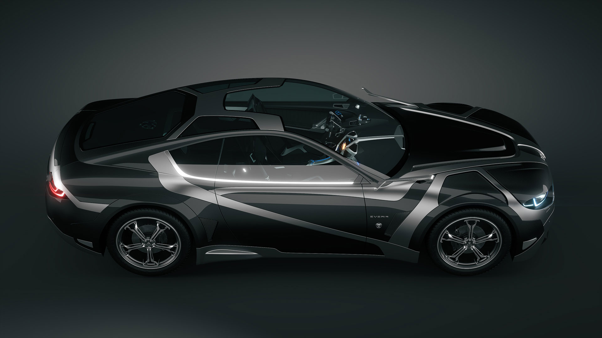 Tronatic Everia Concept The French Electric Muscle Car