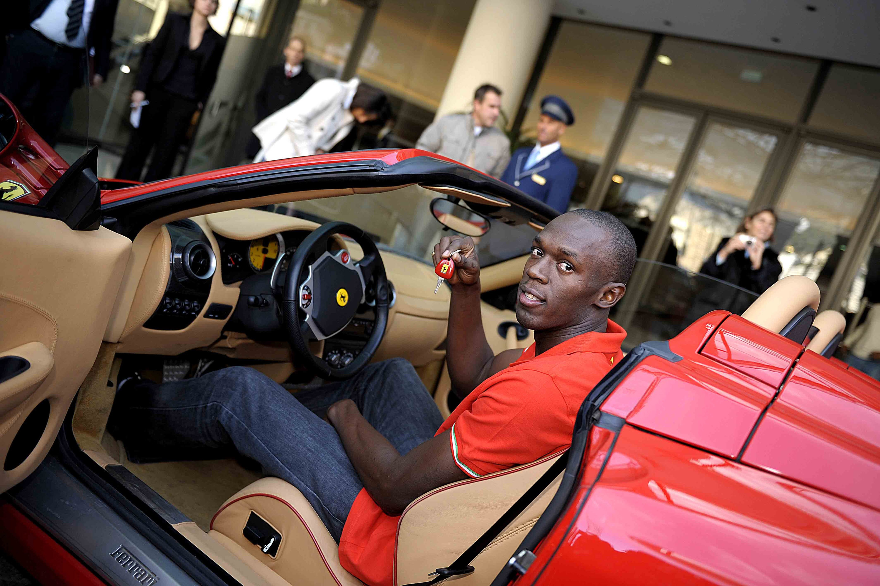 Usain Bolt in Ferrari F430 Spider - Picture 11115