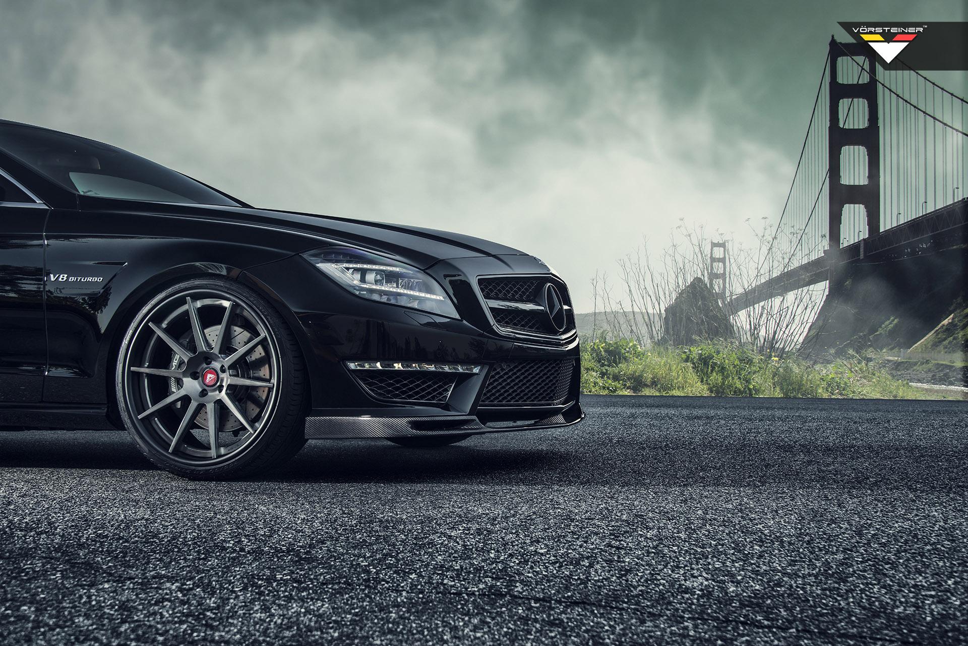 Vorsteiner shows off with obsidian black mercedes benz for Mercedes benz cls series