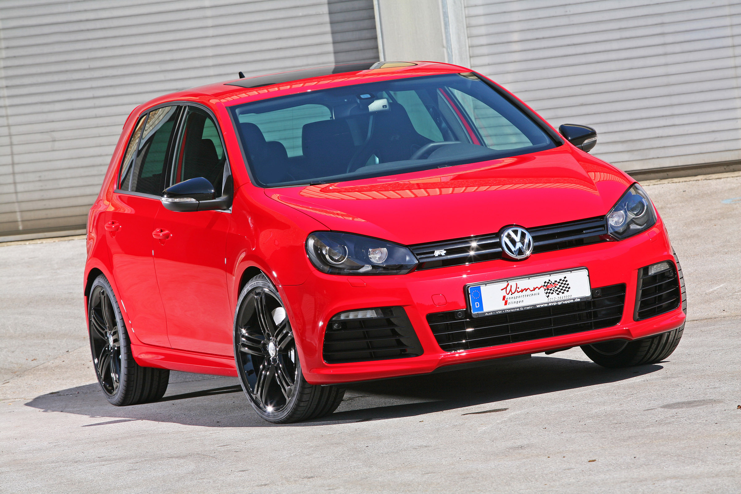 wimmer rs presents its red devil v an extraordinary powerful golf 6 r. Black Bedroom Furniture Sets. Home Design Ideas