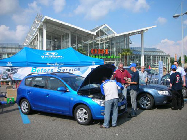 "Used Cars Dealerships >> Hyundai Runs EURO 2008 ""Before Service"" Campaign"