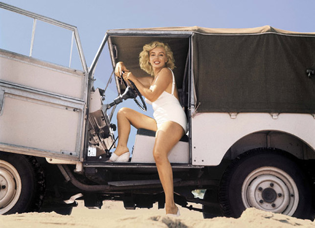 Land Rover and Marilyn Monroe