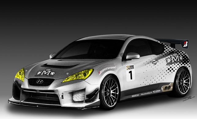 Hyundai Teams Up With Rhys Millen Racing To Introduce Genesis Coupe At Sema Show