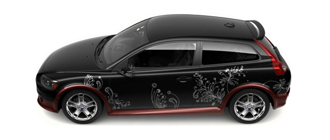 Volvo C30 Flowery Design