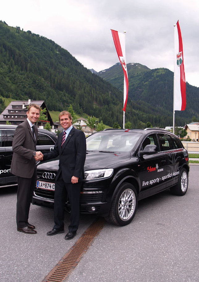 AUDI AG enters alliance with St. Anton ski resort