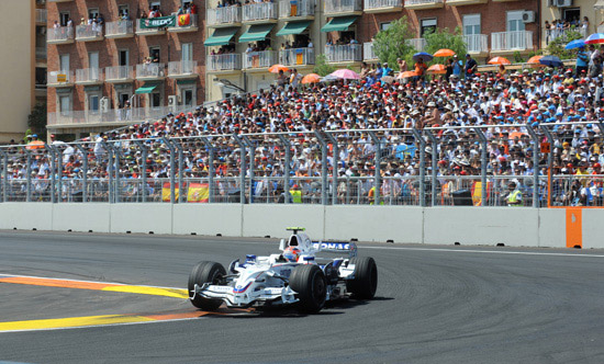 2008 European Grand Prix. Valencia Spain. Robert Kubica (POL) in the BMW Sauber F1