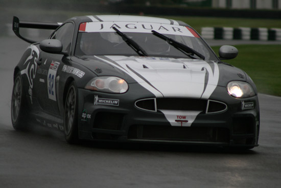 The Apex XKR takes a passenger for a thrilling ride at Goodwood (photo courtesy of Dee Headon Motorsport)