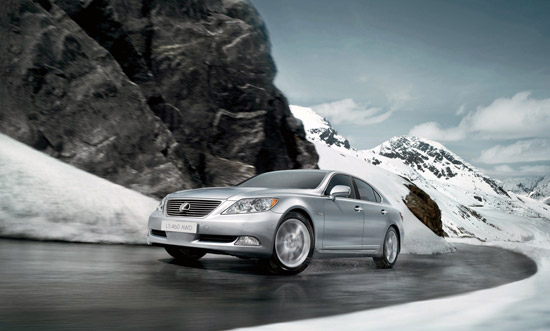 World premiere of the Lexus LS 460 all-wheel drive at the 2008 Moscow