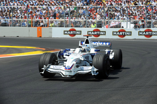 2008 European Grand Prix. Valencia Spain. Nick Heidfeld (GER) in the BMW Sauber F1