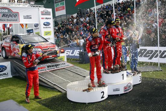 Loeb claims Citroen's 50th WRC win