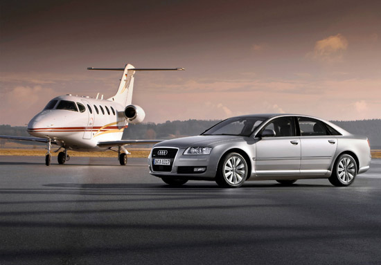 The Audi A8 whit latest generation Multi Media Interface incorporating HDD Satellite Navigation