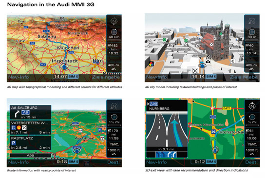 The new Audi Multi Media Interface MMI - HDD Satellite Navigation