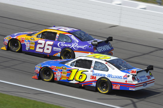 Kansas USA - Jamie McMurray and Greg Biffle