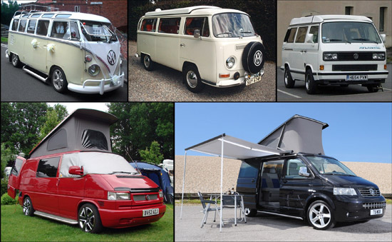 "The ""Five generations of campervan"" at Vanfest"