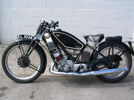 1929 Scott Flying Squirrel 59cc Motorcycle