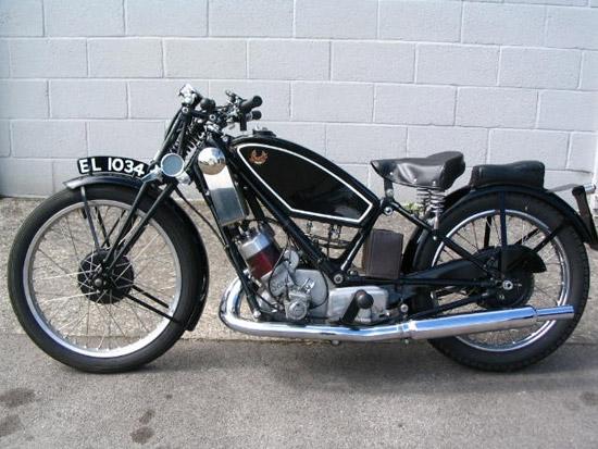 1929 Scott Flying Squirrel 59cc Motorcycle