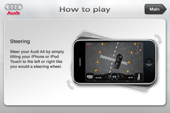 AUDI A4 DRIVING CHALLENGE Steering