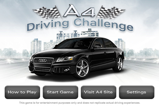 AUDI A4 DRIVING CHALLENGE Title