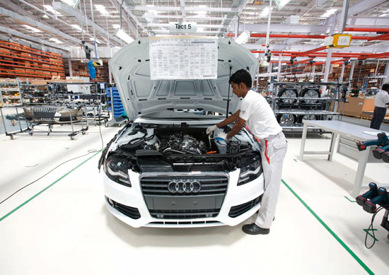 Audi starts production of new Audi A4 in India