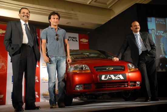 Launch Of The New Chevrolet Aveo U-VA in New Delhi