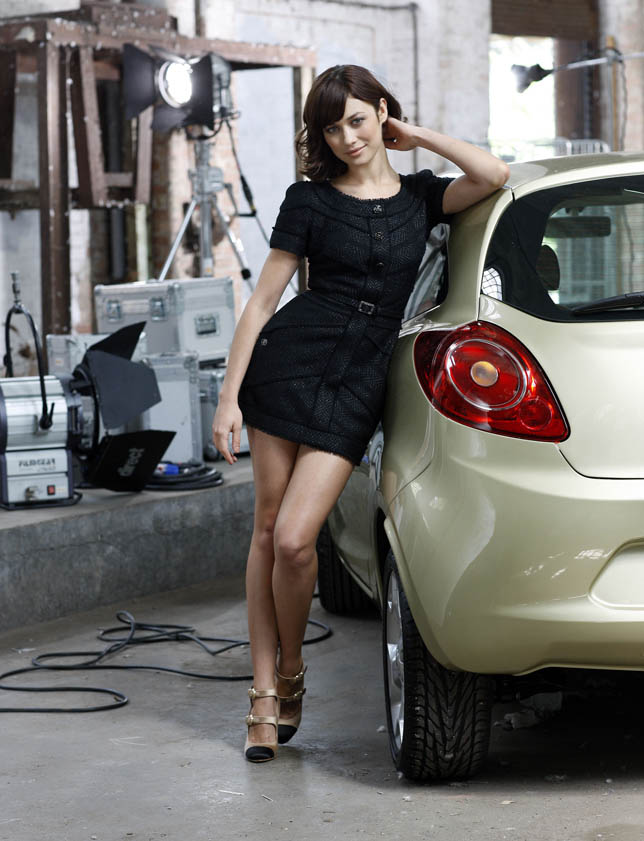 Olga Kurylenko With All-New Ford Ka on Bond Film Set - Panama