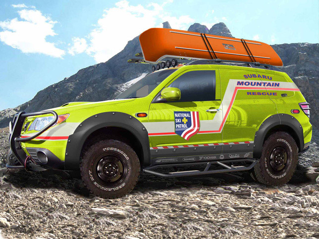 SUBARU ULTIMATE OFF-ROAD FORESTER WITH SEMA MOUNTAIN RESCUE VEHICLE