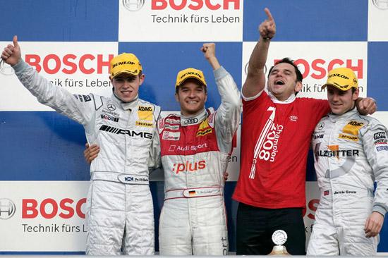 Timo Scheider Audi Sport Team Abt Sportsline 1st Place