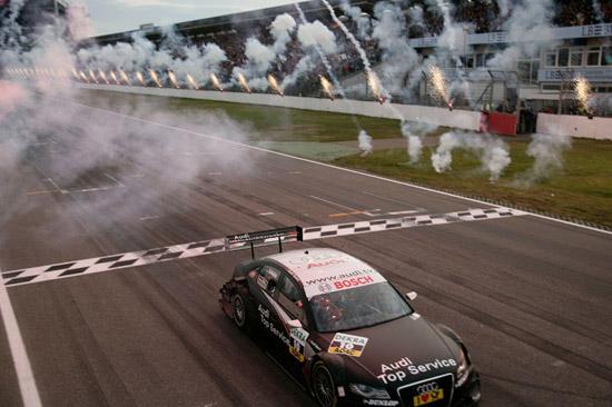 Timo Scheider Audi Sport Team Abt Sportsline Finish