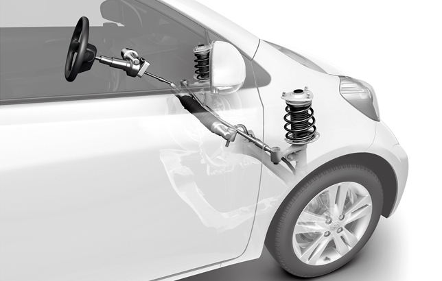 Toyota iQ: Centre take-off steering gear