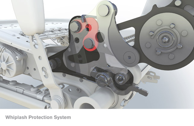 Volvo XC60 Whiplash Protection system