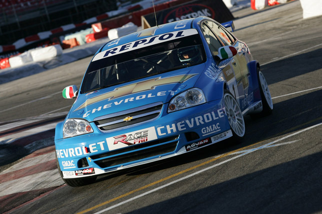 Nicola Larini has won the Yokohama World Touring Car Show
