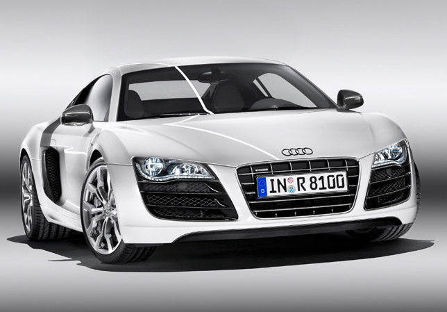 The Audi R8 V10 is the first car in the world to offer all-LED headlamps as standard.