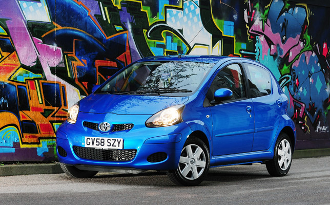 The Style pack for Aygo Blue (£580) provides alloy wheels, front fog lamps