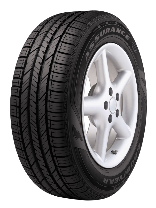 The Goodyear Assurance Fuel Max tire, selected as the exclusive