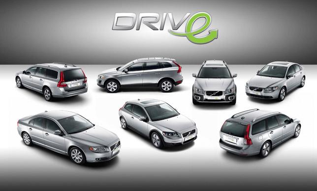 Volvo DRIVe range with logotype, C30, S40, V50, S80, V70, XC60, XC70