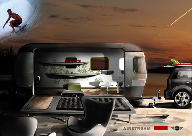 MINI Cooper S Clubman and Airstream creation designed by Republi